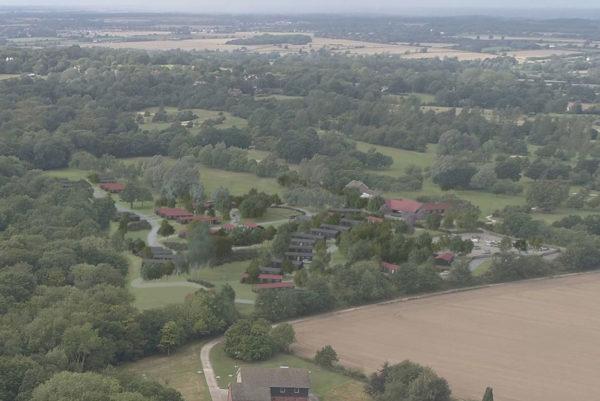 Birds eye view of Warren Lodges North & Bunsay Golf Club