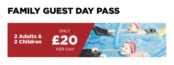 Family Guest Day Pass - £20 (2 Adults & 2 Chlidren)