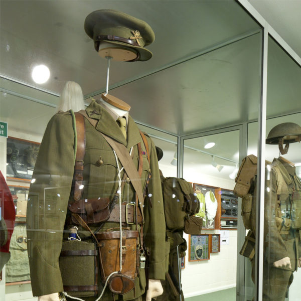 Uniform on dislpay at the Combined Military Services Museum