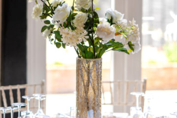 Wedding flower centerpiece on table