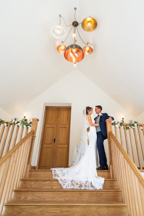 Barn Wedding venue staircase