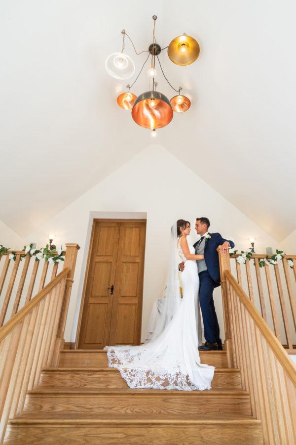 Barn Wedding venue staircase